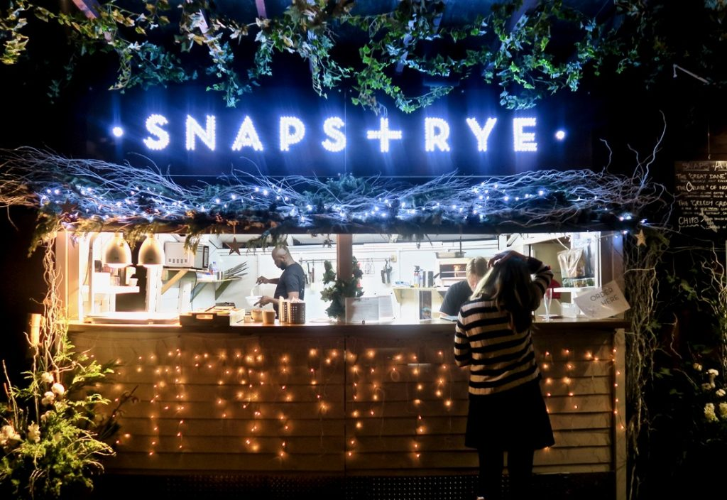 Snaps and Rye pop up
