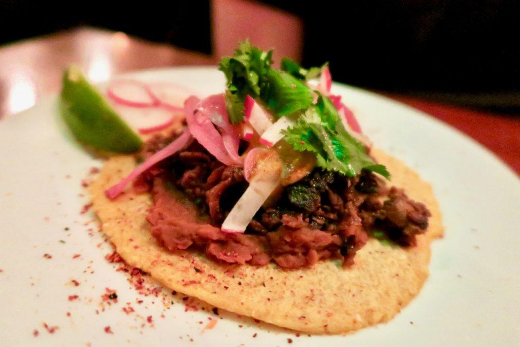 vegan taco Club Mexicana Dalston