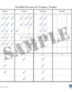 Advanced homework chart also correct bad behavior customizable charts rh empoweringparents