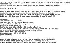George Strait Song Lovebug Lyrics And Chords