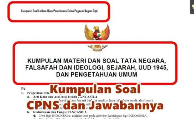 Download Soal Skd Cpns 2019 Dan Kunci Jawaban Pdf