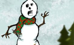 Funny Snowman Christmas Holiday Card By Adraftee On Etsy
