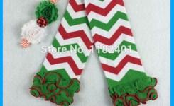 Sets Dijual Lucu Penghangat Kaki Bayi Gadis Kapas Penghangat Kaki Natal Putih