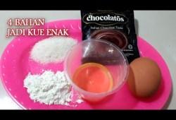Cara Memasak Cuma 4 bahan, kue bolu cokolatos no open no mikser anti gagal // resep kue 4 bahan sederhana