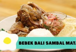 Cara Memasak Resep Bebek Bali dengan Sambal Matah ( Crispy Duck with Bali Raw Sambal Recipe)