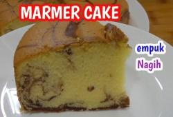 Cara Memasak Resep MARMER / MARBLE CAKE All in One yang Empuk dan Lembut