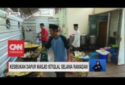 Cara Memasak Potret Kesibukan Dapur Masjid Istiqlal saat Ramadan