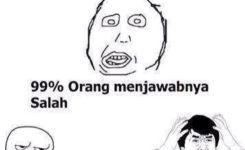 Bahasa Indonesianya Wrong Itu Salah
