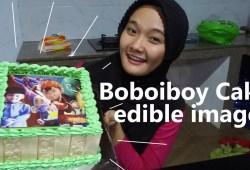 Cara Memasak Cake Boboiboy Edible Image