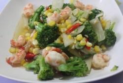 Cara Memasak Resep Tumis Udang Sayur Brokoli Jagung