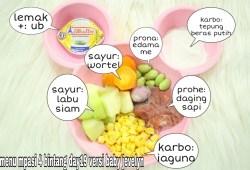 Cara Memasak RESEP MPASI 6 BULAN PERTAMA ( menu 4 bintang  daging sapi +sayur)