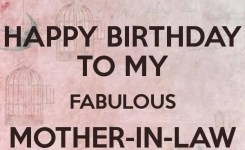 Nice E Card Happy Birthday To My Fabulous Mother In Law