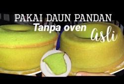Cara Memasak Resep cara membuat bolu pandan lembut | pakai daun pandan asli & santan