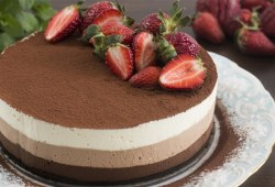 Cara Memasak No-Bake Triple Chocolate Mousse Cake Recipe