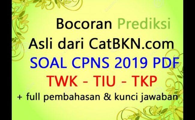 Soal Cpns 2019 Dan Kunci Jawaban Full Pembahasan Twk Tiu Tkp Hots Cute766