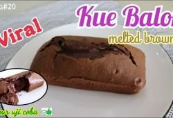 Cara Memasak Resep Kue Balok Lumer | Kue Balok Ngehits Lembut dan Enak | Melted Brownie