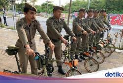 Viral Satpol PP Pakai Brompton, Kasatpol Makassar: Jangan Pikir Kami Kemewahan