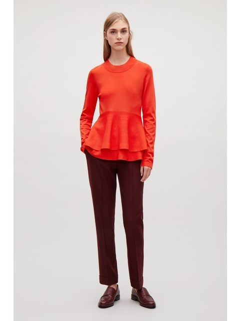 Image result for double layered peplum top