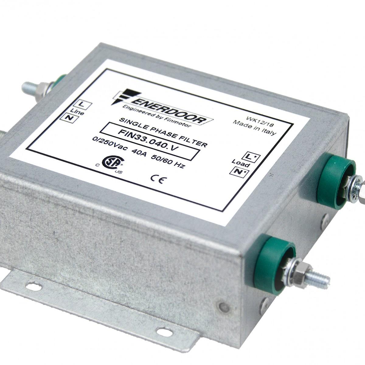 FIN33 EMI RFI Single Phase Filter   Enerdoor   EMI Filters and RFI Filters