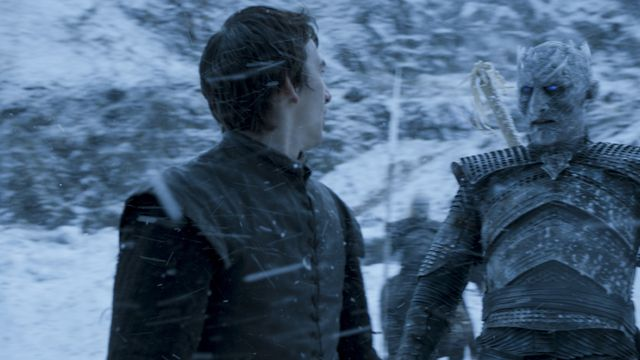 © HBO - Isaac Hempstead Wright as Bran Stark, Vladimir Furdik as Night King