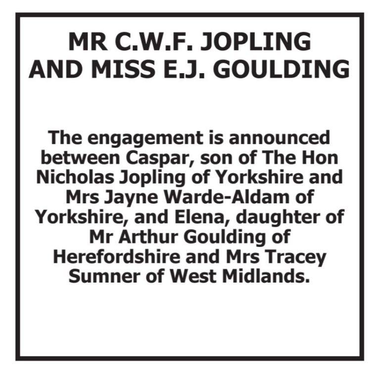 Ellie Goulding engaged to boyfriend Caspar Jopling