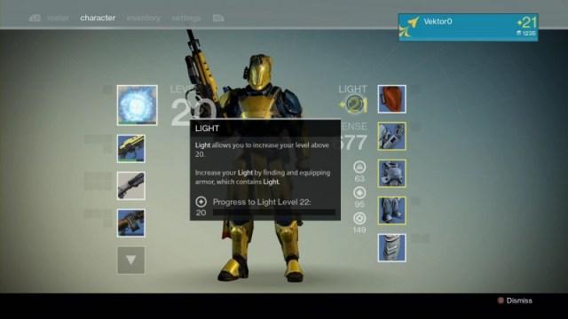 Destiny light level