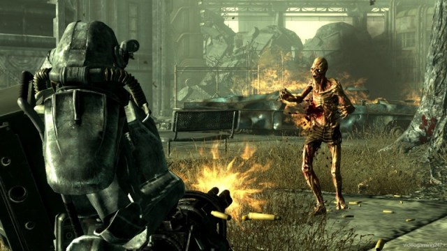 Fallout 3 ghoul shooting