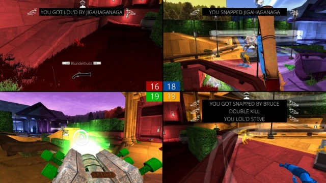 Screencheat gameplay screen