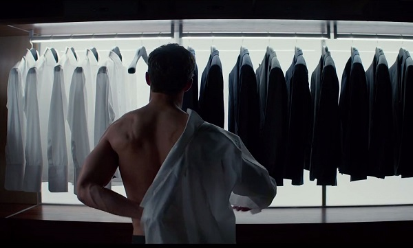 fifty shades of grey - suit wardrobe