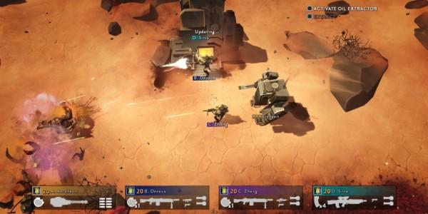 Helldivers gameplay desert