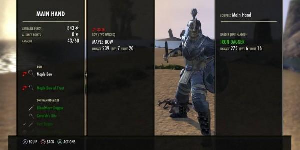 eso menus stolen item ps4 beta