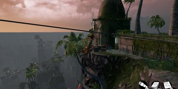 submerged city climb zipline