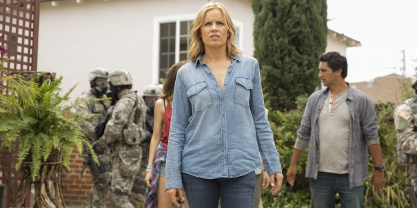 Kim Dickens as Madison, Cliff Curtis as Travis - Fear The Walking Dead _ Season 1, Episode 3 - Photo Credit: Justina Mintz/AMC