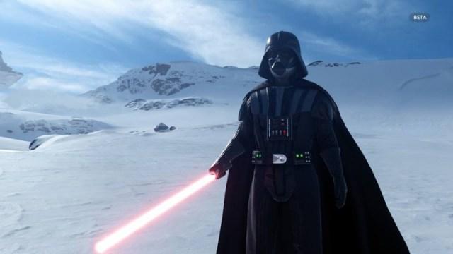 Star Wars Hoth beta Darth Vader