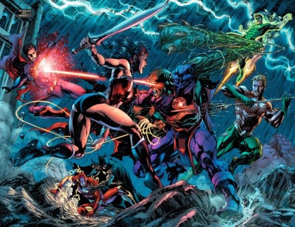 Martian Manhunter, The Flash, Batman, Wonder Woman, Superman, Green Lantern - Justice League
