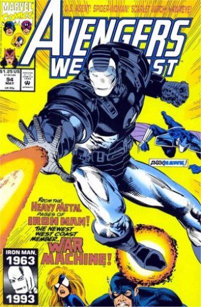 Avengers West Coast #94 - James Rhodes as War Machine