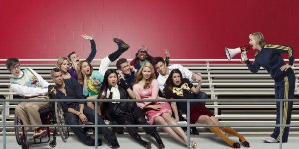 GLEE: New Directions returns in all-new episodes of GLEE premiering Tuesday, April 13 following AMERICAN IDOL on FOX. Pictured bottom row L-R: Kevin McHale, Mark Salling, Jenna Ushkowitz, Dianna Agron, Lea Michele and Jane Lynch. Middle row L-R: Jessalyn Gilsig, Jayma Mays, Matthew Morrison and Cory Monteith. Top row L-R: Chris Colfer and Amber Riley. ©2010 Fox Broadcasting Co. Cr: Patrick Ecclesine/FOX