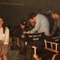Miranda sings on set, courtesy of Netflix