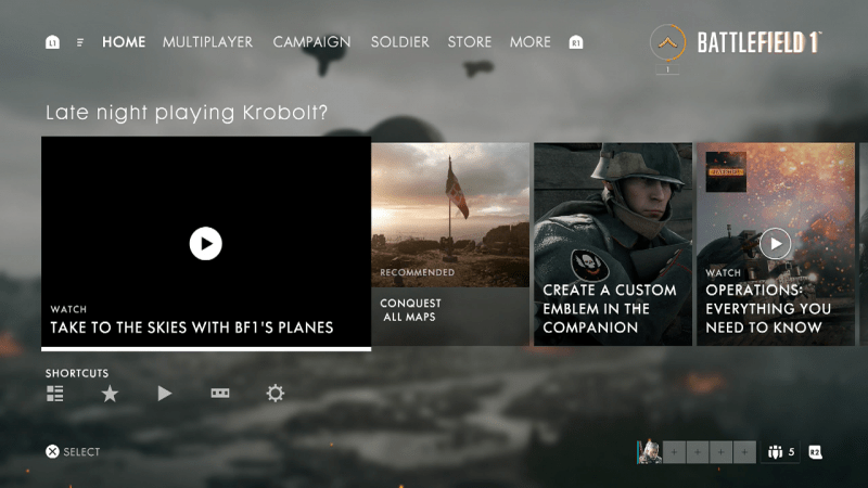 Please don't judge me Battlefield 1. I'm but a simple night owl.