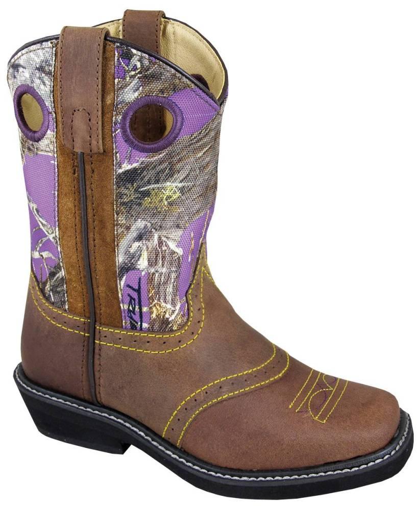 Smoky Mountain Cypress Square Toe Crepe Boot - Kids