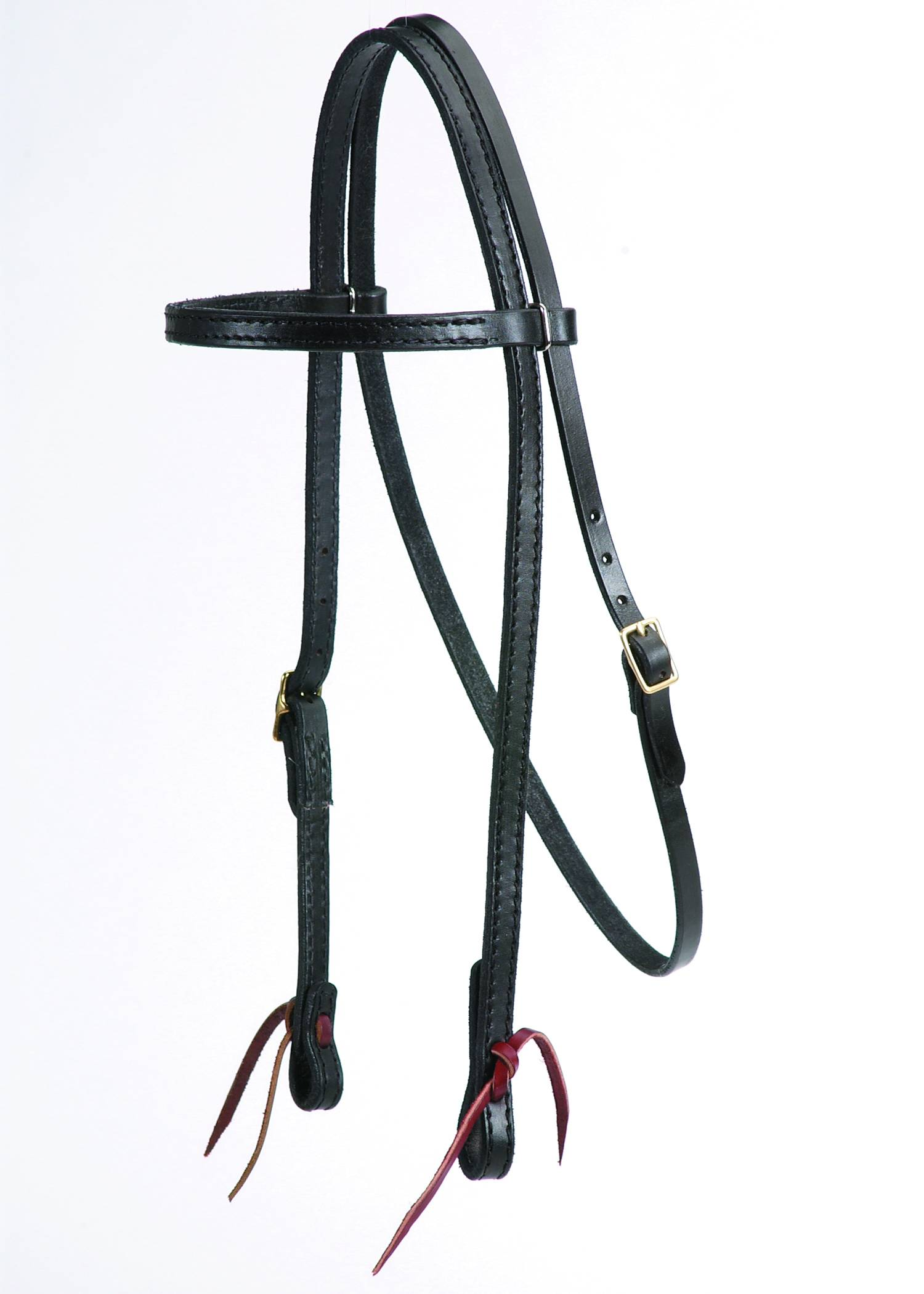 Colorado Saddlery Black Leather Browband Headstall