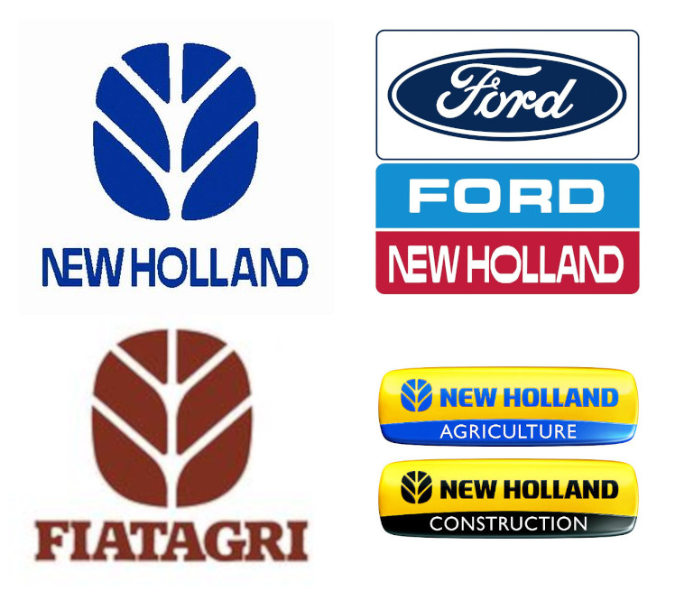 New Holland Logos Over Time - Original, Ford New Holland, Fiat Agri, Current