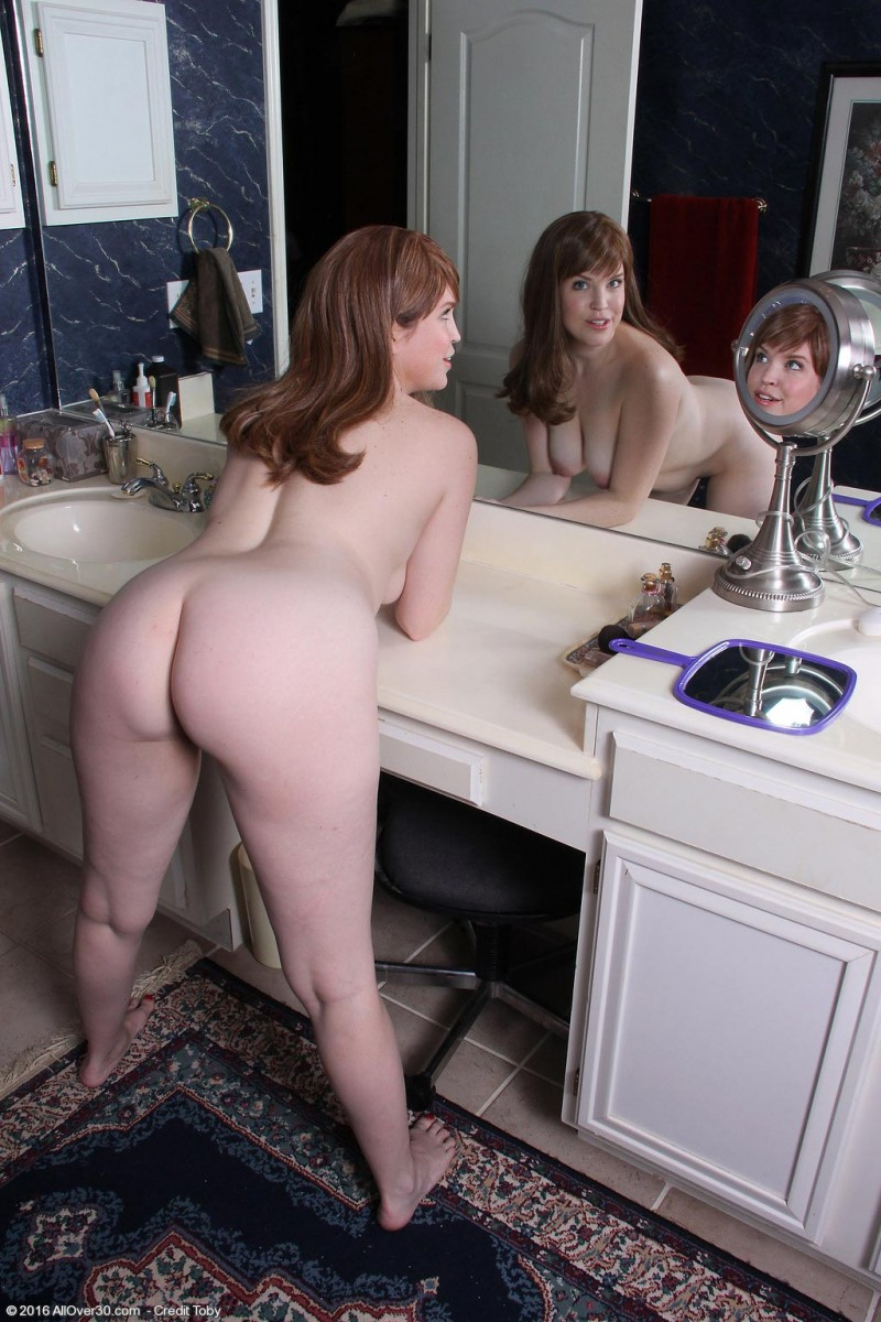 Holly Fuller Spreads In Front of a Big Mirror