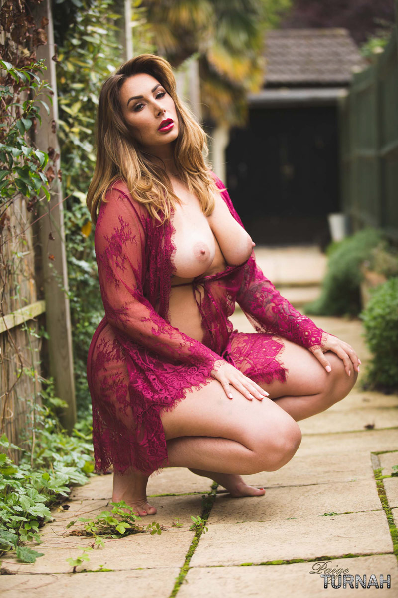 Paige Turnah Thick Model in a Nightie