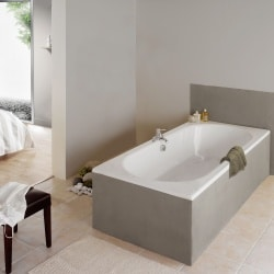 baignoire collection rectangle 170 x 70 cm aquarine