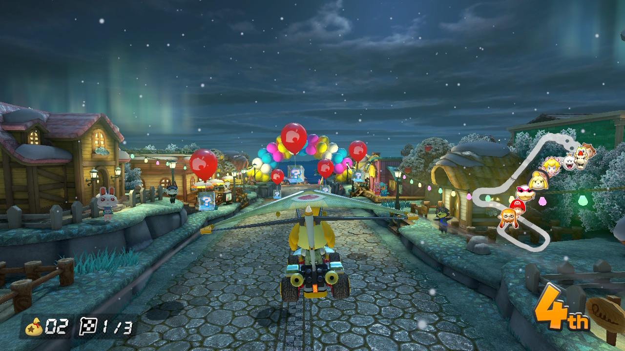 Animal Crossing Fall Wallpaper Mario Kart 8 Deluxe Animal Crossing Track Secret Season