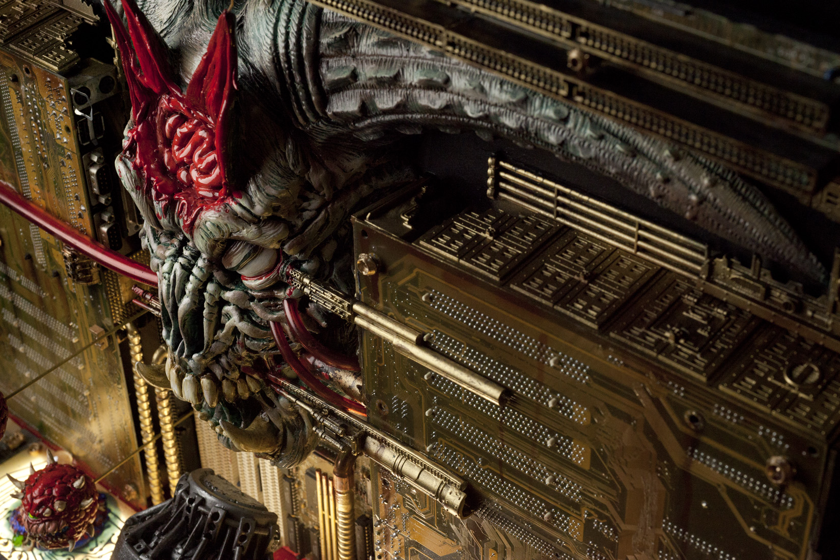 Monster 3d Wallpaper Custom Doom Ii Sculpture Inspired By Icon Of Sin Level