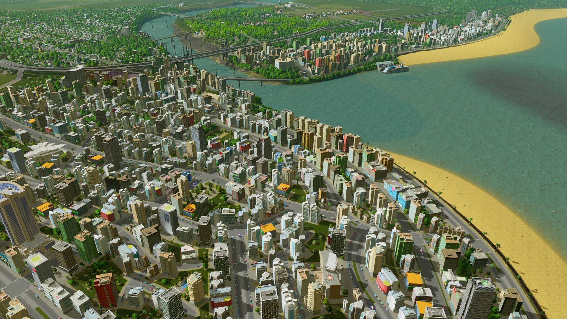 Car Workshop Wallpapers Cities Skylines Review Modern City Building Made Easy