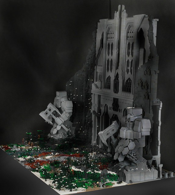 LEGO Builder Recreates The Hobbits City of Erebor  The
