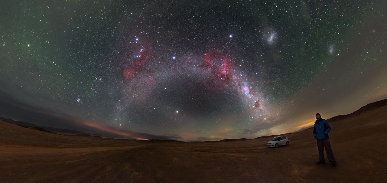 Barnards Loop and the Magellanic Clouds  ESO